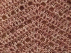shawl stitch detail
