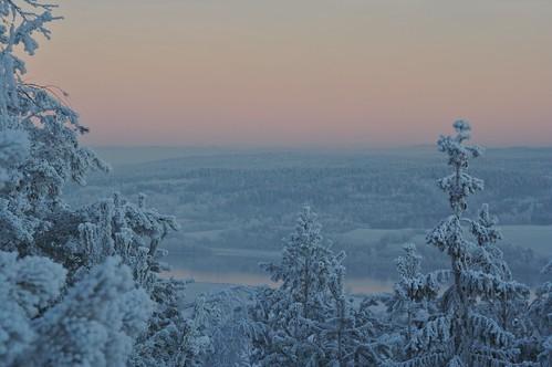 Desember-landskap nær Fetsund.