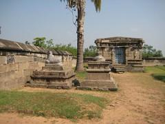 7.Goddess Shrine and the outside Nandhi