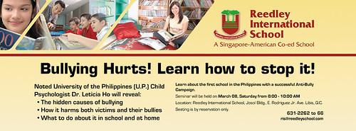 Dr. Ho Anti-Bullying Seminar details