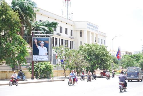 Hun Sen Poster along Monivong Blvd. in Phnom Penh, Cambodia