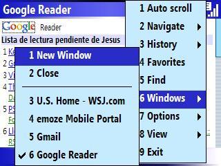 jB5 Navegador para Windows Mobile Administracion de multiples ventanas