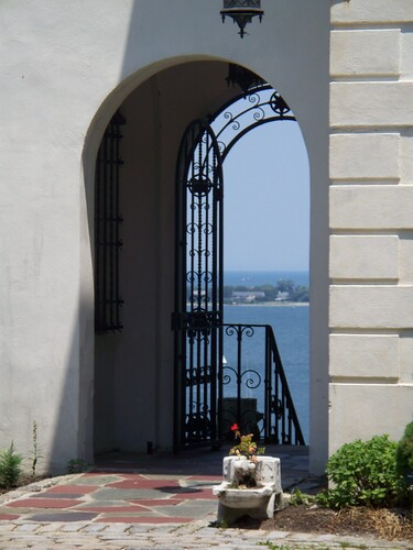 Harbor View Through Courtyard Gate