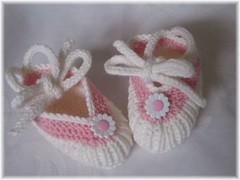 38-09 Baby Ballerinas weiß-rosa2