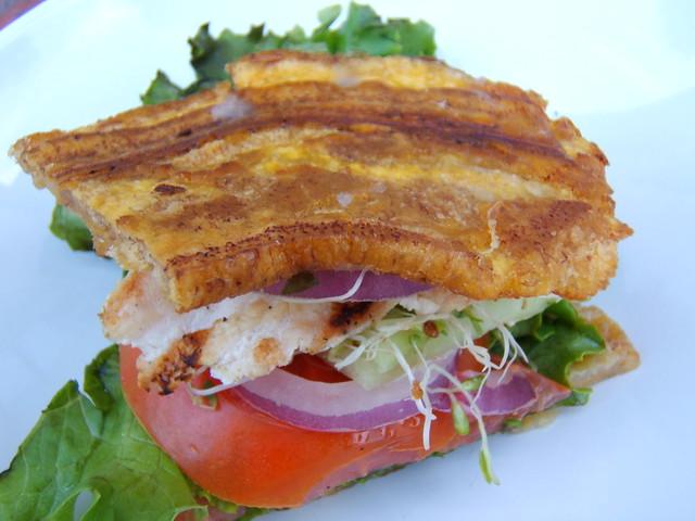 jibarito - chicken and plantain sandwich