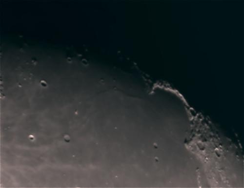 Mare Imbrium and Sinus Iridum on 2/17/08