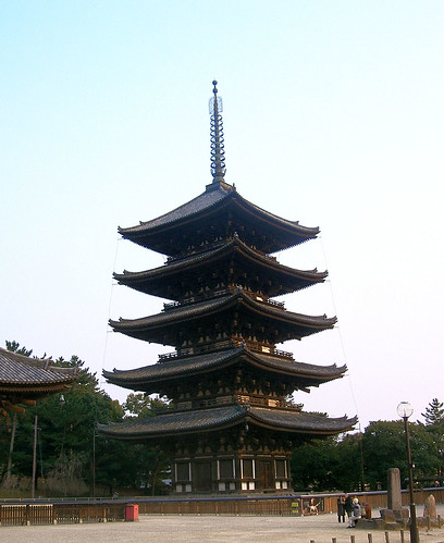 Pagoda de cinco pisos de Nara.