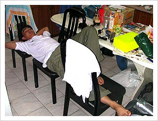 CJ - on chairs