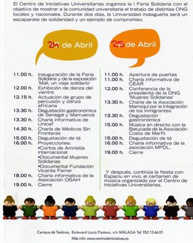 I Feria Solidaria - Cartel