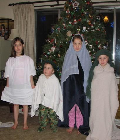 Kids ready for Nativity