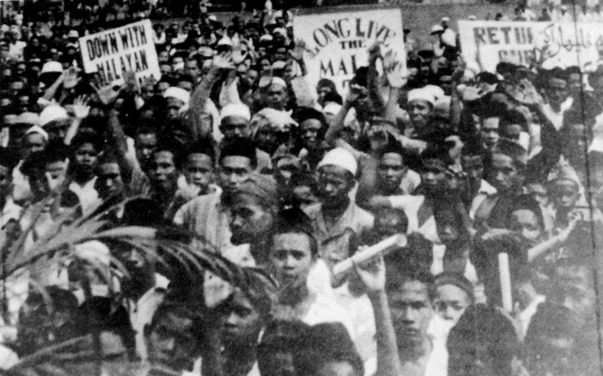 Orang Melayu Kelihatan Protes Malayan Union