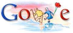 Google logo San Valentín