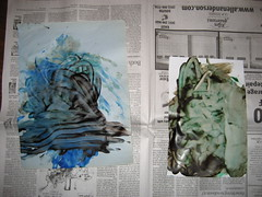 dry finger painting
