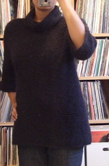 Cowl neck crochet tunic