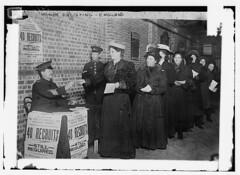 Women enlisting - England (LOC)
