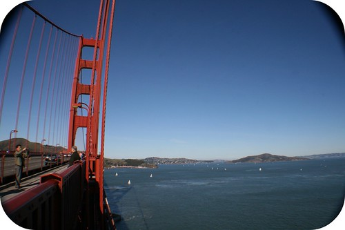 Bendy Golden Gate Bridge (wide angle lens adaptor)