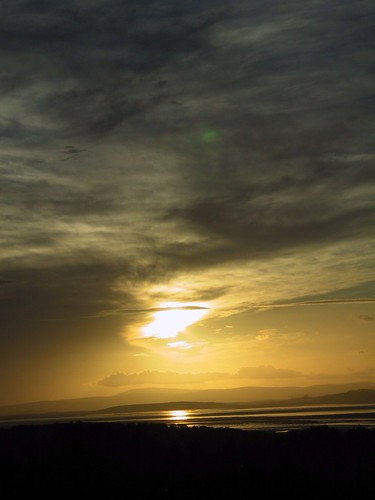 Morecambe Bay at sunset
