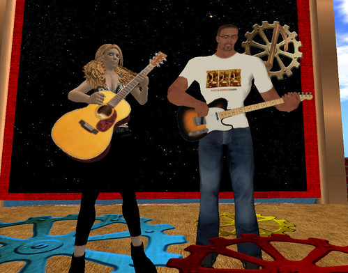 MichelleD Eckhols and Scott at the clocktower in Edloe
