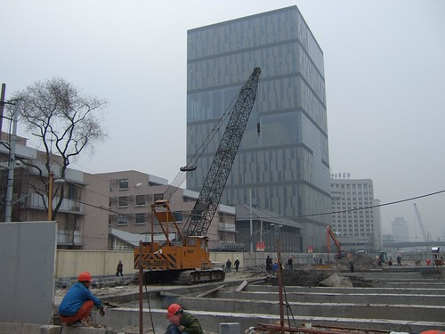 Construction site in front of Tongji University