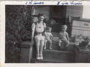 My Grandmother, with my mother and uncle.