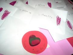 Bryce's colorful Valentine's