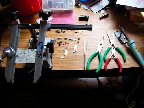 Parts arrayed