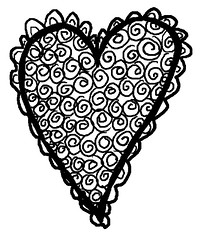 Lace Spiral Heart