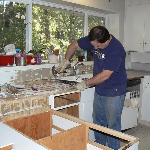 Greg working hard