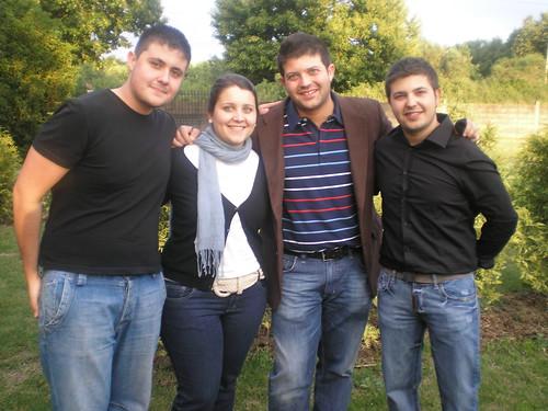 Con mis hermanos y mi prima