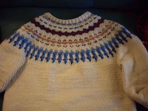 My finished yoke sweater