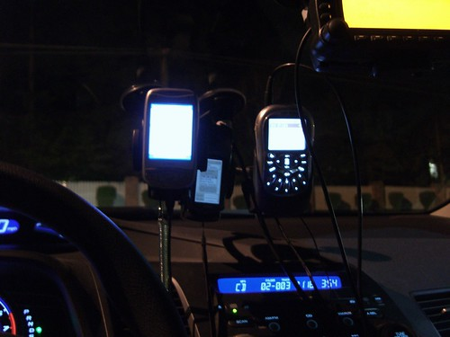 Night view of communication and navigation systems