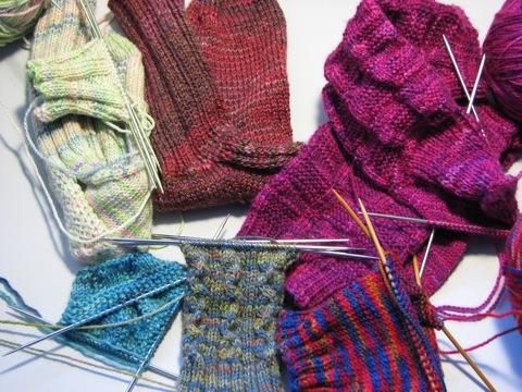 Socks on the Needles