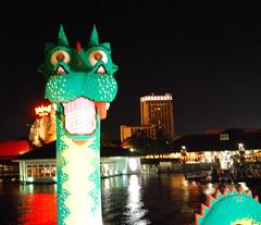Lego dragon in Downtown Disney