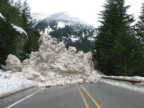 SR 20 - Snow Slide by Washington State Dept of Transportation.