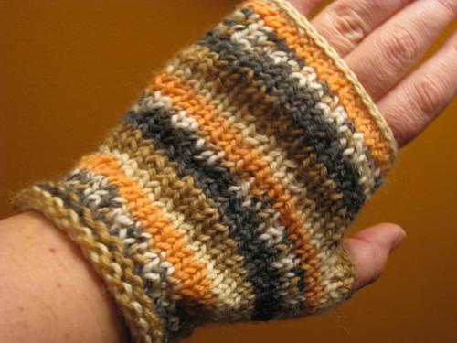 fingerless mitts i knit