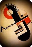 Joost Schmidt. Proyecto de cartel. Tinta china. Cartel de Joost Schmidt para la exposición de la Bauhaus de 1923 en Weimar.