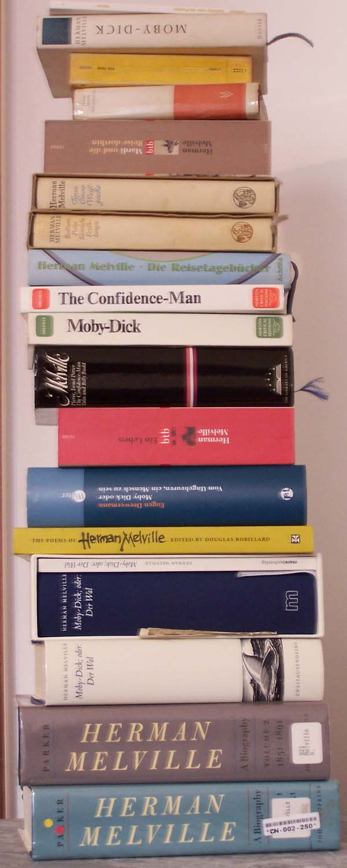 Melvilleana Book Stack, Bücherstapel Stand 1. Februar 2008