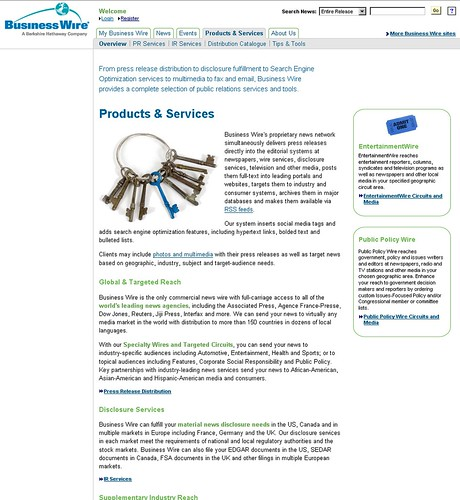 Business Wire Products and Services