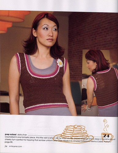 Cute crochet vest!