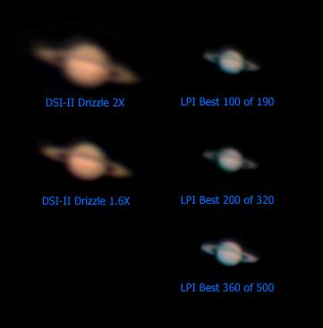 Saturn on 5/22/08 - Camera Comparison