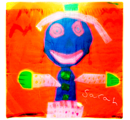Self-portrait, childhood c.1988 by Sarah Badr (c) shbadr.wordpress.com