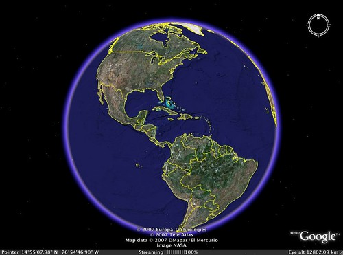 Google Earth front Page