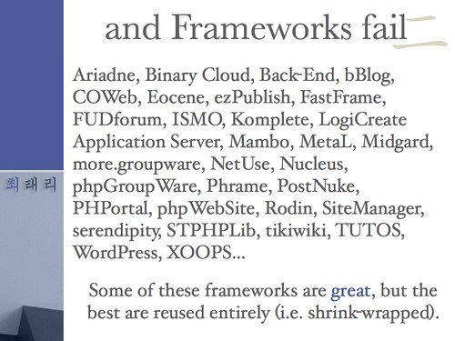 OOPS: …and Frameworks Fail (slide: 97/137)