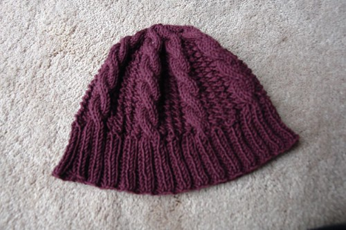 Top Down Cable Hat