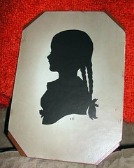 braided girl silhouette