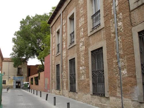 Calle Nebrija desde la calle Libreros en la actualidad
