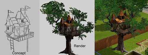 Tree house render via SimGuru Shannon