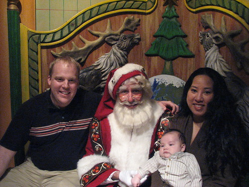 The family and Santa