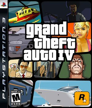 GTA IV PS3 box art