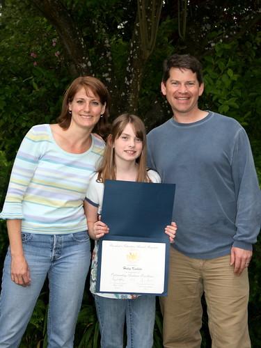 Hayley presidential award